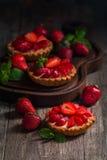 Crostate casalinghe fresche del berrie fotografia stock libera da diritti