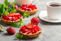 Crostate casalinghe fresche del berrie immagine stock