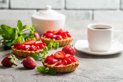 Crostate casalinghe fresche del berrie fotografia stock