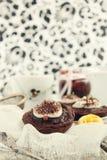 Crostate del cioccolato e del caramello Immagine Stock Libera da Diritti