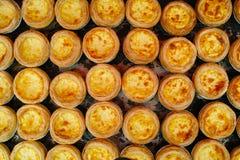 Crostate dell'uovo Fotografia Stock Libera da Diritti