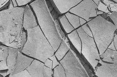 Croste di argilla su un letto di fiume Fotografia Stock Libera da Diritti