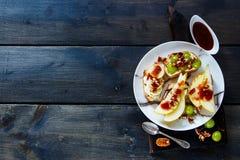 Crostini с плодоовощами Стоковые Изображения