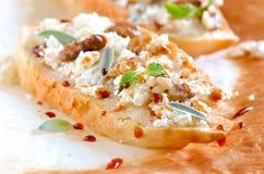 Crostini с козий сыром Стоковые Фото
