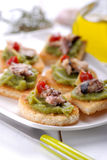 Crostini with anchovy Stock Photo