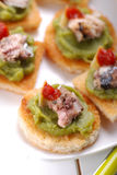 Crostini with anchovy Royalty Free Stock Photo