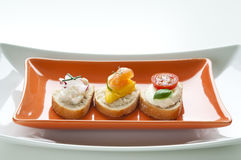 Crostini Appetizers Royalty Free Stock Photography