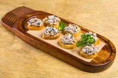 crostini avec des légumes Photo stock