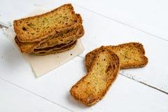 Crostini bröd från över royaltyfri foto