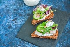 Crostini del pan de Rye fotos de archivo