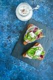 Crostini do pão de Rye Imagem de Stock Royalty Free