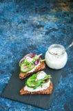 Crostini do pão de Rye Fotografia de Stock