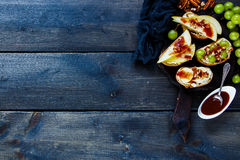 Crostini with fruits Royalty Free Stock Image