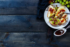 Crostini with fruits Royalty Free Stock Photo