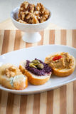 Crostini, italian style appetizers Royalty Free Stock Images
