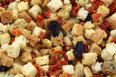 Crostini italiani freschi e crunchy variopinti fotografia stock
