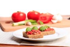 crostini pomidor Fotografia Royalty Free