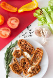 Crostini, starters Royalty Free Stock Photography