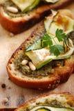Crostini with zucchini Royalty Free Stock Photo