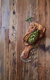 Crostinis with Basil Pesto and Walnuts Royalty Free Stock Photo