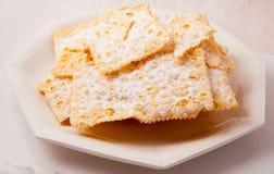 Crostoli, dolce italiano tipico Fotografia Stock Libera da Diritti