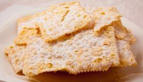 Crostoli, dolce italiano tipico Immagine Stock Libera da Diritti
