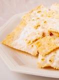 Crostoli, typical Italian sweet. Royalty Free Stock Images