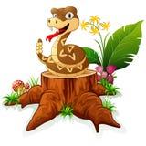 Crotalo sul ceppo di albero royalty illustrazione gratis