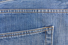 Crotch of old blue jean. Royalty Free Stock Image