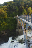 Croton Dam in USA. Dam on mountain river. Expanded water from the waterfall Royalty Free Stock Photos