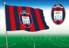 CROTONE, ITALIA, AÑO 2017 - campeonato del fútbol de Serie A, bandera 2017 del equipo de Crotone