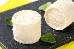 Crottins de Chevre cheese Stock Photos