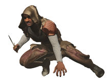 Crouching assassin Stock Photos