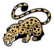 Crouching leopard mascot Royalty Free Stock Photography