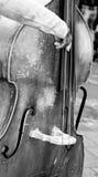 Croud des personnes entendant un joueur de violoncelle Photos libres de droits