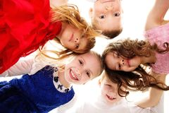 Croup of happy children Royalty Free Stock Image