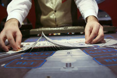 Croupier Royalty Free Stock Photography