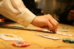 Croupier Royalty Free Stock Image