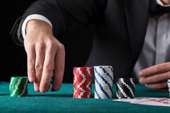 Croupier in casino Royalty Free Stock Photo