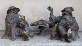 Croupier dwarves in Wroclaw Stock Photos