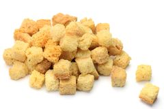 Crouton. I took crouton in a white background Stock Photography