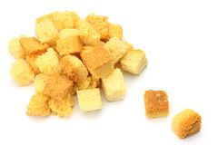 Crouton. I took crouton in a white background Royalty Free Stock Images