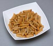 croutons πιάτο Στοκ Εικόνα