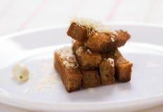 Croutons σκόρδου ψωμί Στοκ φωτογραφίες με δικαίωμα ελεύθερης χρήσης