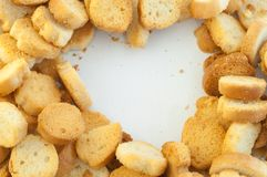 Croutons του ψωμιού Στοκ Φωτογραφίες