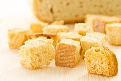 Croutons хлеба Стоковая Фотография