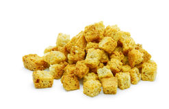 Croutons. Isolated on white background stock image
