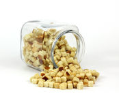 Croutons at an Angle Royalty Free Stock Photo