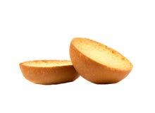 Croutons auf Weiß Lizenzfreies Stockfoto