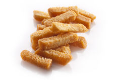 Croutons of bread isolated Royalty Free Stock Photo